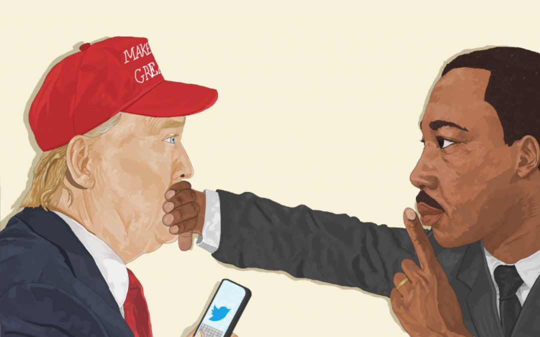Haitian-American Artist Explains His Image Of MLK And President Trump